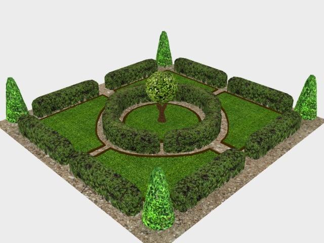 victorian garden 3D model