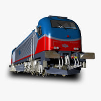 3D vossloh euro 4000 locomotive
