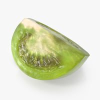 Quarter of Green Tomato 3D Model