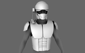 sci-fi armor base mesh model