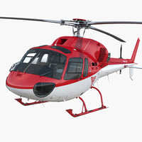 3D medical air rescue helicopter model