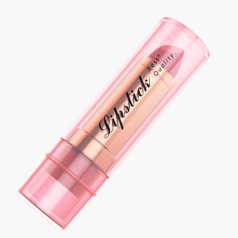 lipstick product template 3d model turbosquid 1171656