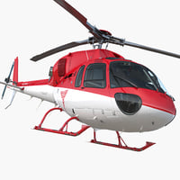 3D medical air rescue helicopter