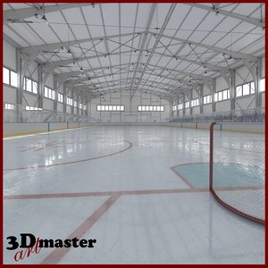 interior ice hockey arena model