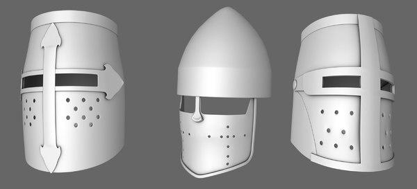 medievil knight helmet 3D model