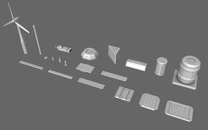 3D sci-fi prop kit bash