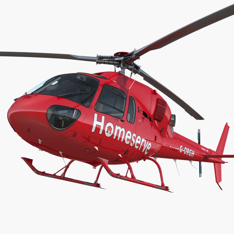 homeserve helicopter eurocopter 3D model
