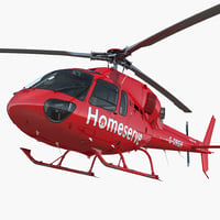 homeserve helicopter eurocopter 3D model