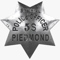 vintage police badge model