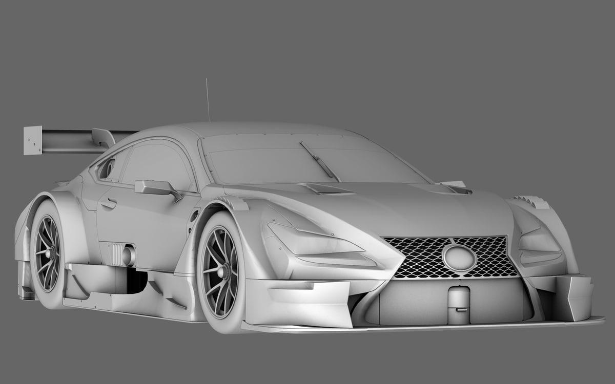 rc f gt500 3D model