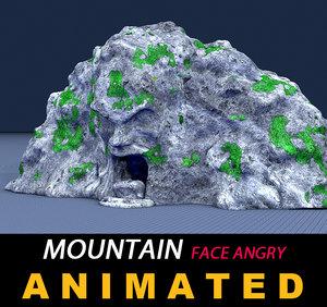 3D stone mountain
