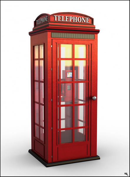3D phone telephone booth model