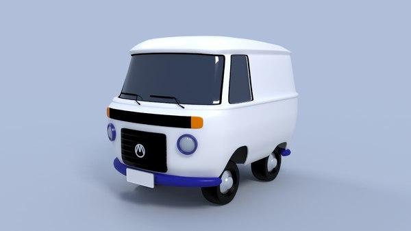 cartoon kombi 3D model