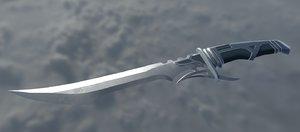 3D combat knife