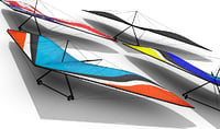 Hang Gliding Set - 4 Different Designs Included Low Poly Easy Management hang glide