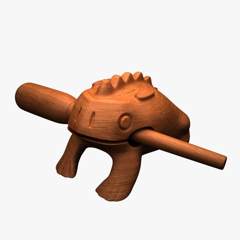 toy frog 3D model