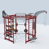 sports center gym machine 3D model