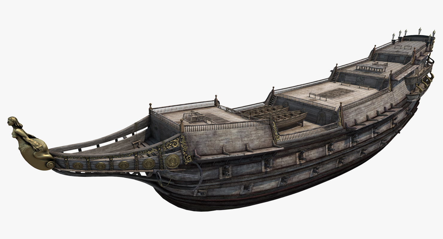 3D galeon ship body