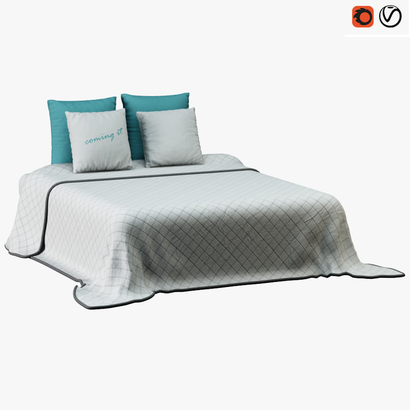 bed bedclothes cloth 3D