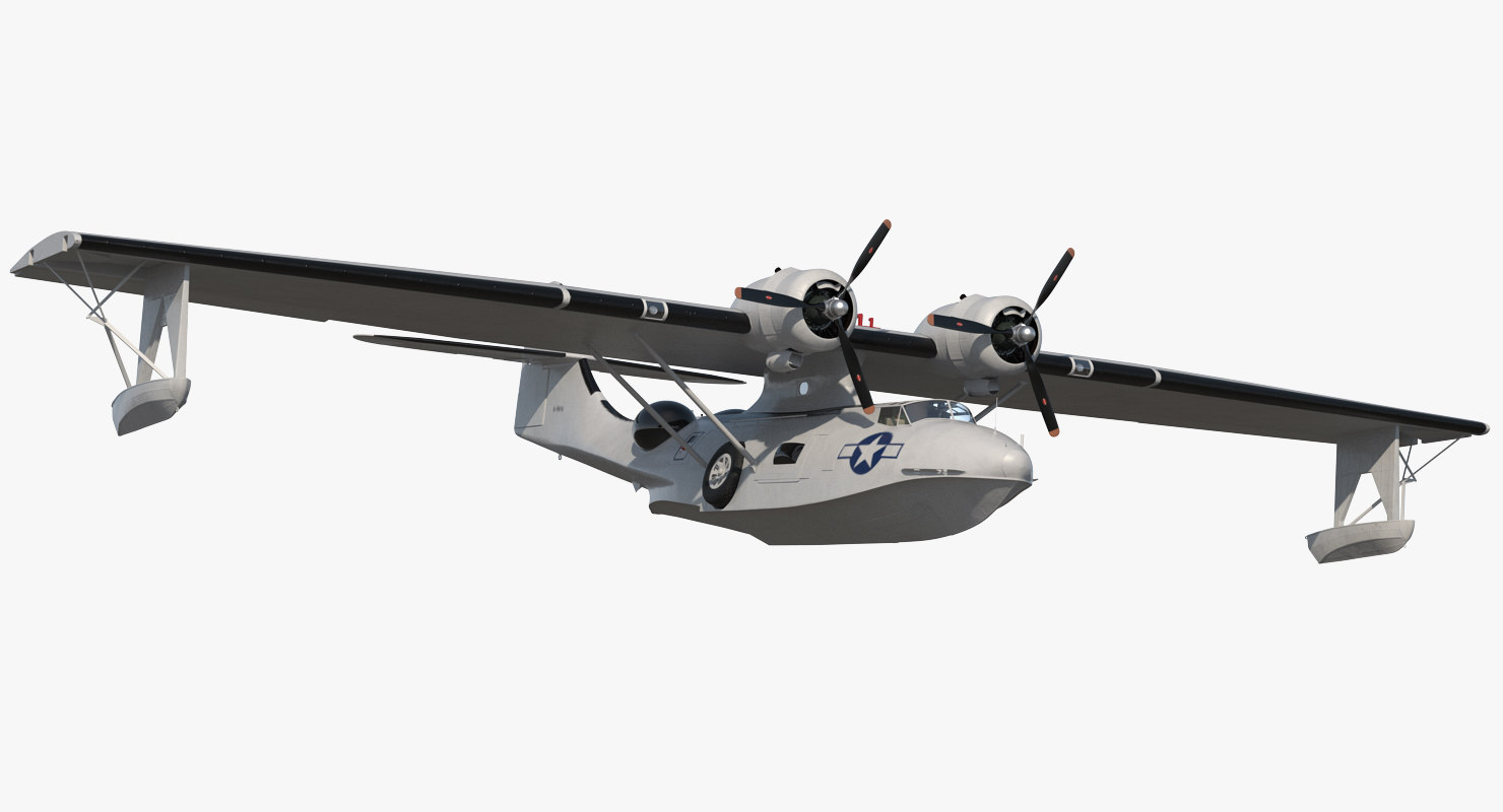 flying boat consolidated pby 3D model