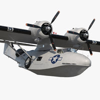 Flying Boat Consolidated PBY Catalina WWII