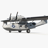 3D flying boat consolidated pby model