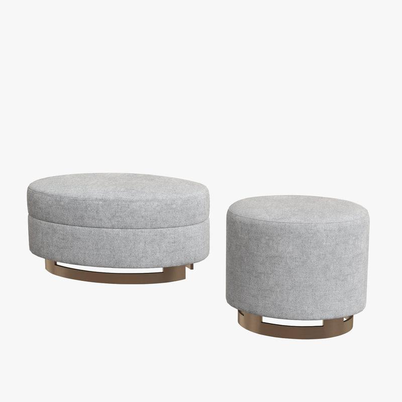gumi ottoman stool 3D