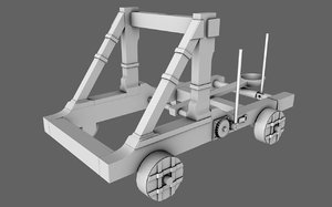 3D roman catapult model