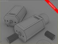 electric motor reducer 3D model
