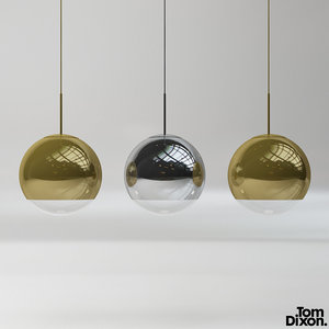 3D tom dixon mirror ball model