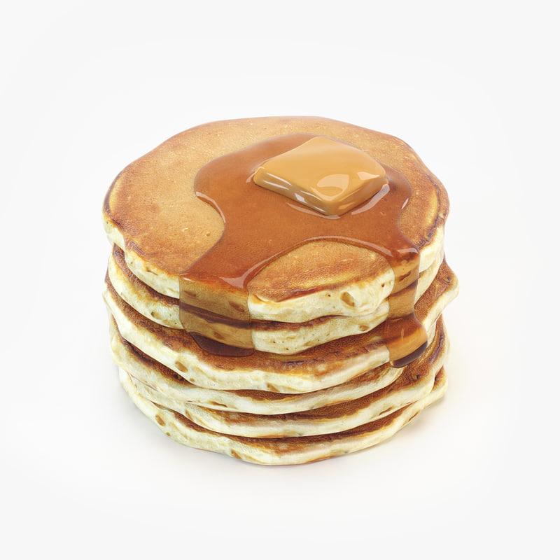 pancakes modeled v-ray 3D model