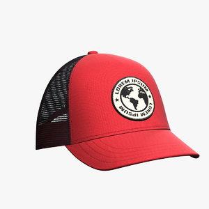 3D model baseball hat 15