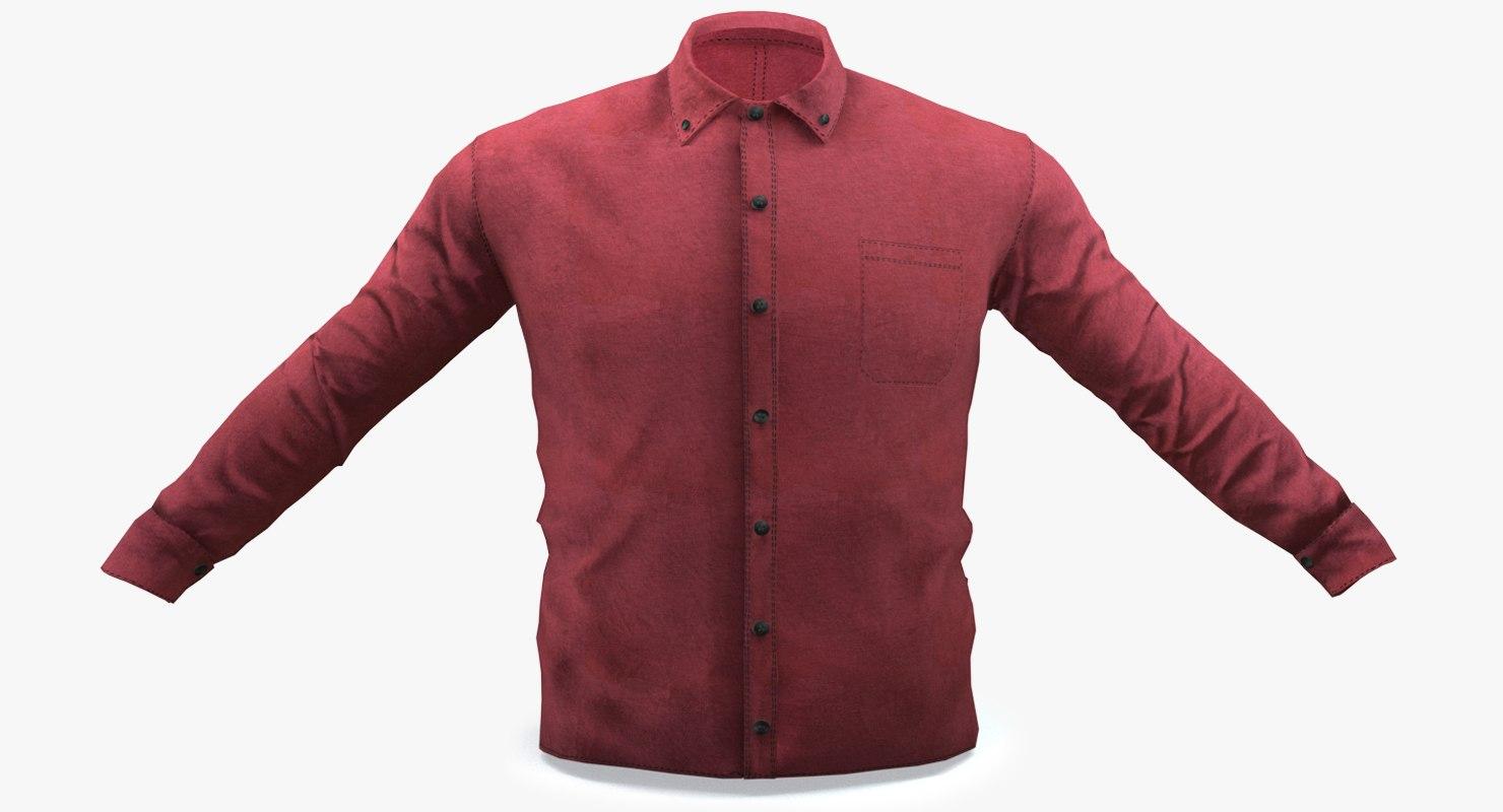 red shirt 3D model