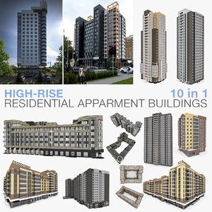 high-rise residential buildings 3D