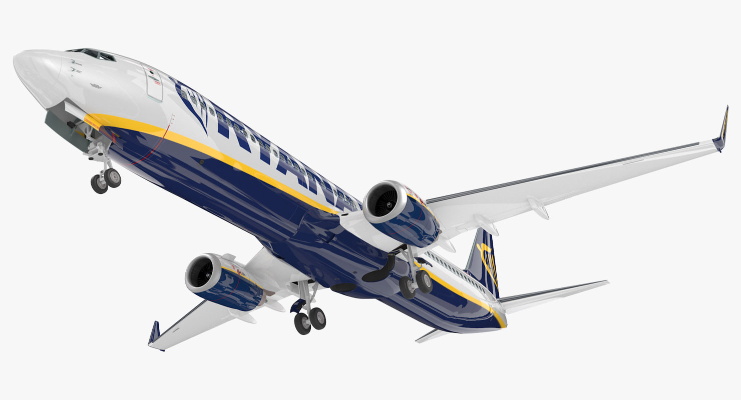 boeing 737-900 interior ryanair 3D model
