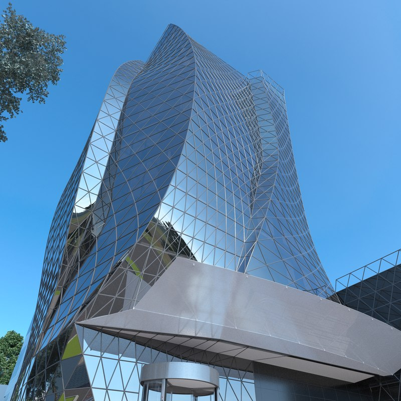 3D model parametric office building