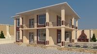 home plans autocad 3D model