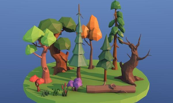 tree fir spruce 3D model