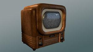 3D old timey 1940s tv model