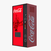 coke vending machine 3D model
