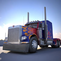 Transformers Optimus Prime LOW POLY Model