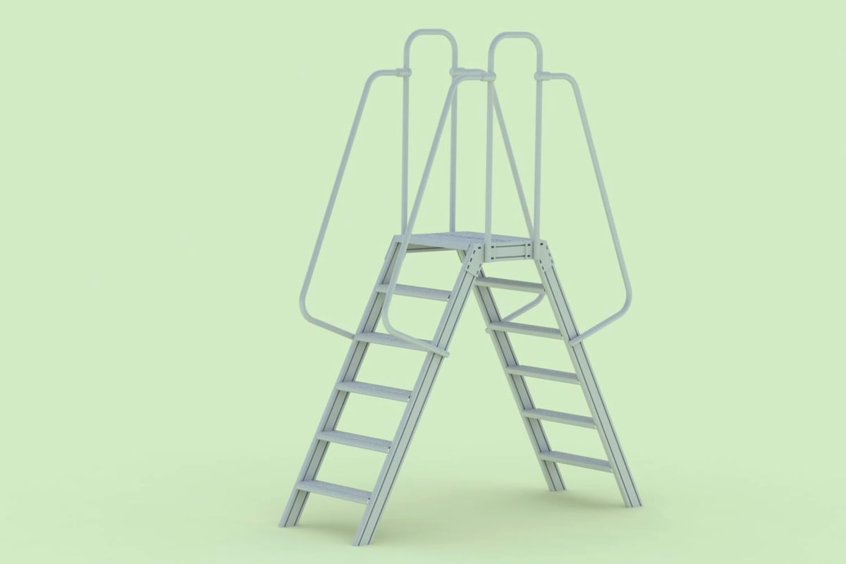 double sided step ladder 3D