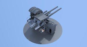 3D japanese gun