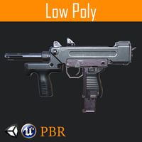 3D tommy-gun pbr