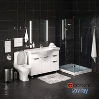 set bathroom equipment accessories model