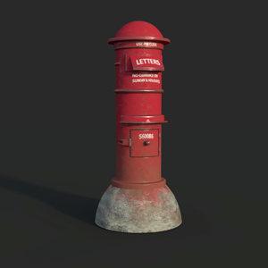 3D model post box
