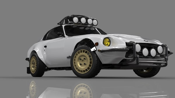 3D modified datsun 240z rally
