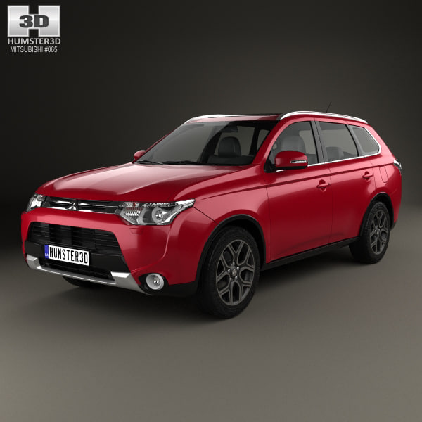 3D mitsubishi outlander 2014 model