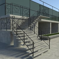 stairs - railing 3D model