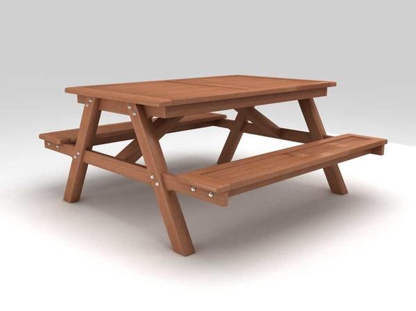 3D picnic table